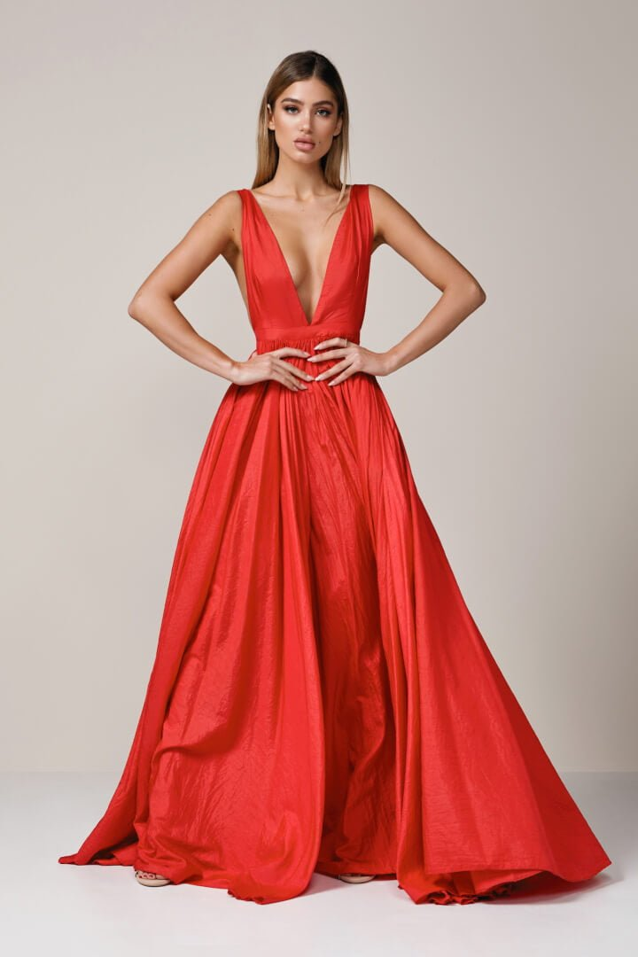 D\'Lelle - Afifee Gown - Red - ONS Boutique