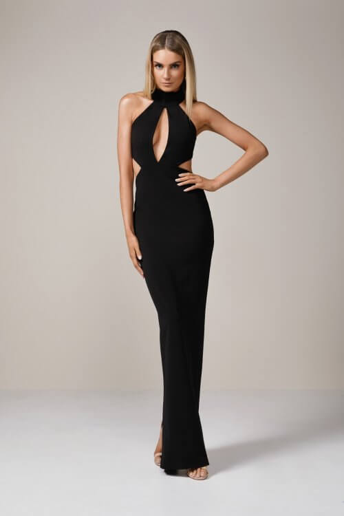 Nookie Wicked Games Maxi Backless, Floor Length, Maxi Black