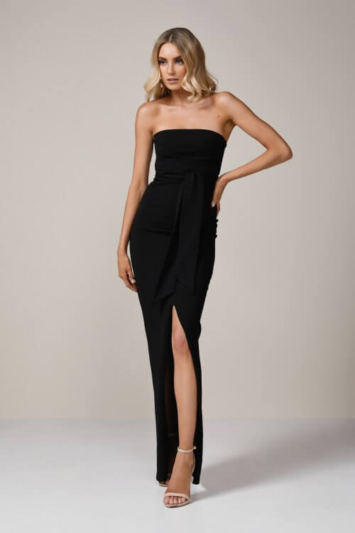 Nookie Royal Gown Floor Length, Maxi, Strapless Black