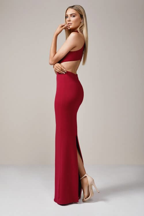 Nookie Wicked Games Maxi Backless, Floor Length, Maxi Ruby