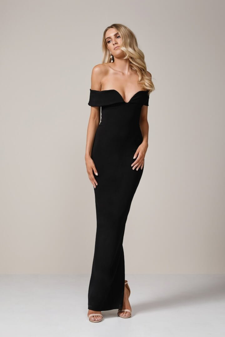 7510603575 Nookie - Pretty Woman Gown - Black - ONS Boutique