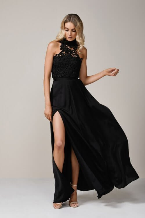 Elle Zeitoune Cary Gown Floor Length Black