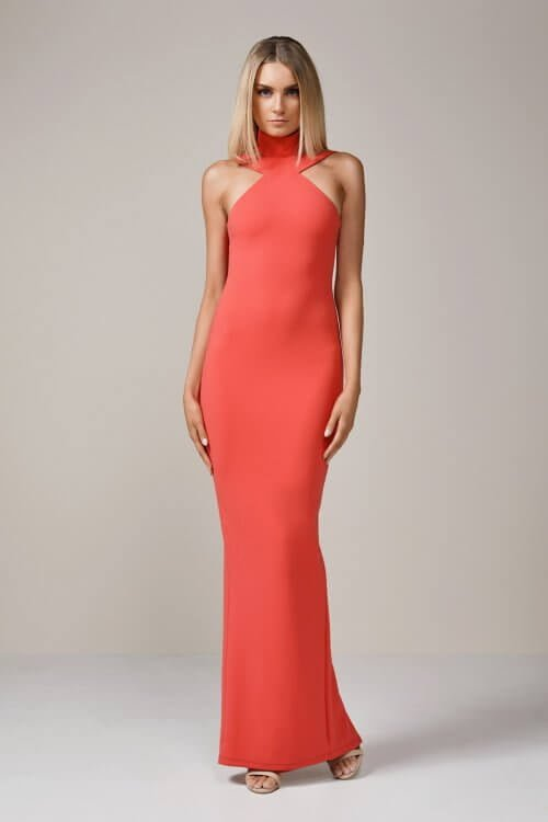 Nookie Celestial Gown Floor Length, Maxi Coral