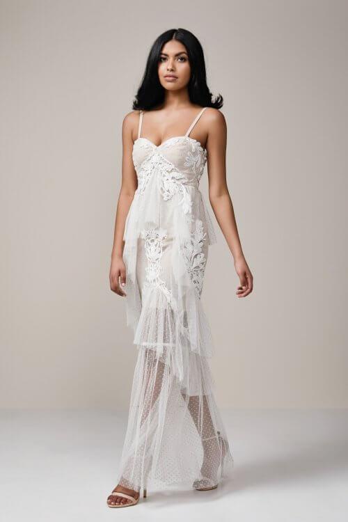 Thurley Nymph Dress Floor Length, Maxi Nude