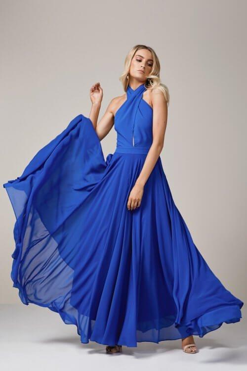 Elle Zeitoune Alice Gown Floor Length, Maxi Blue