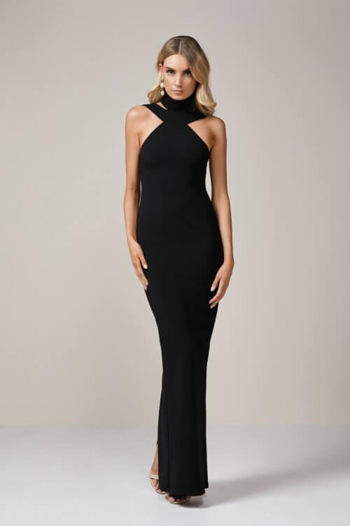 Nookie Celestial Gown Floor Length, Maxi Black