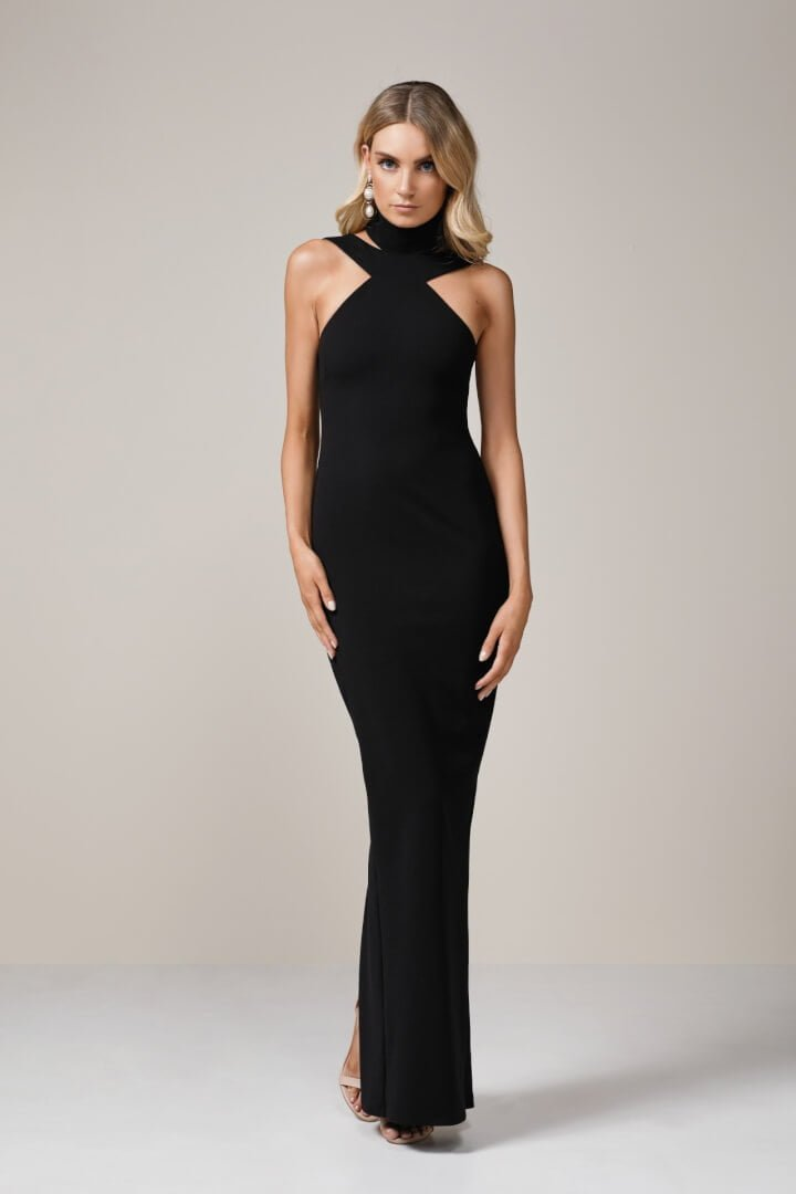 Nookie Celestial Gown Floor Length, Maxi Black