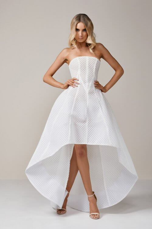 Lexi Lola Dress Floor Length, Knee Length, Maxi, Midi, Strapless Ivory