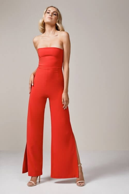 Nookie Glamour Jumpsuit Jumpsuit, Strapless Red