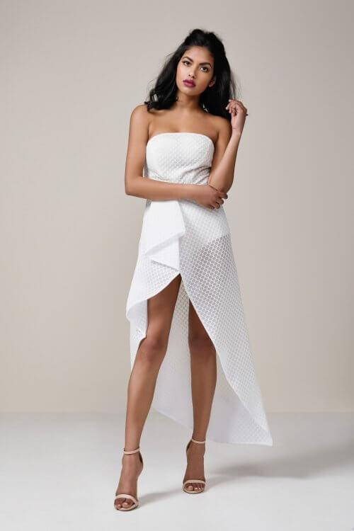 Lexi Chiara Dress Knee Length, Maxi, Midi, Strapless Ivory