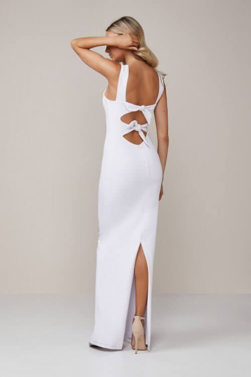 Nookie Cleo Gown Backless, Floor Length, Maxi White