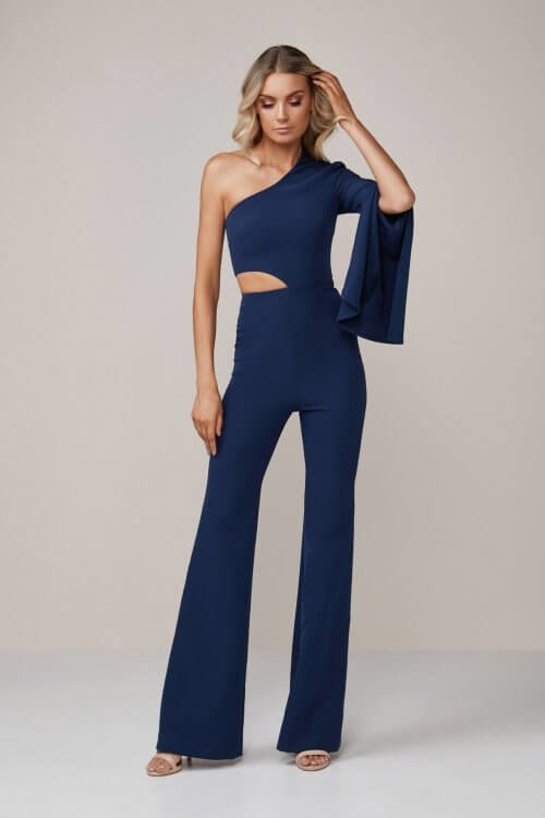 Stephanie Chehade Last Act Jumpsuit Floor Length, Jumpsuit, Maxi Navy