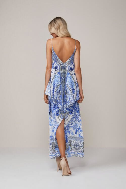 Camilla Poets Sanctuary Low Back Dress Backless, Floor Length, Maxi Print