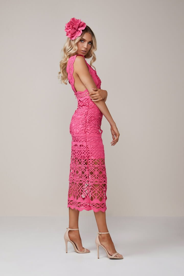 Thurley Coney Island Dress Pink Ons Boutique
