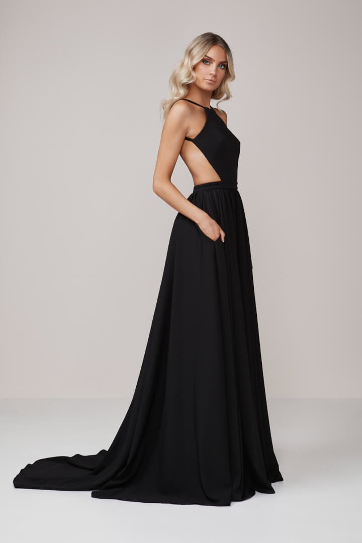 D\'Lelle - Diamond Ball Gown - Black - ONS Boutique