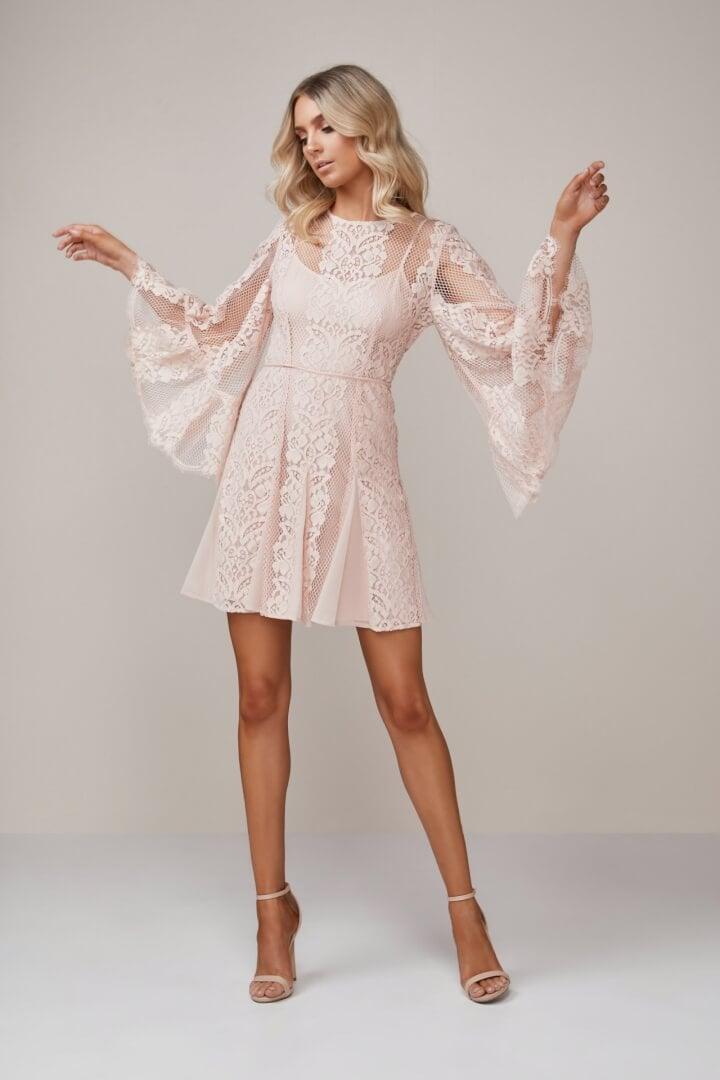 Talulah Lust Over Dress Long-Sleeve, Mini Pink