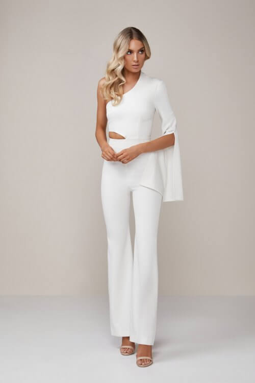 Stephanie Chehade Last Act Jumpsuit Floor Length, Jumpsuit, Maxi Ivory