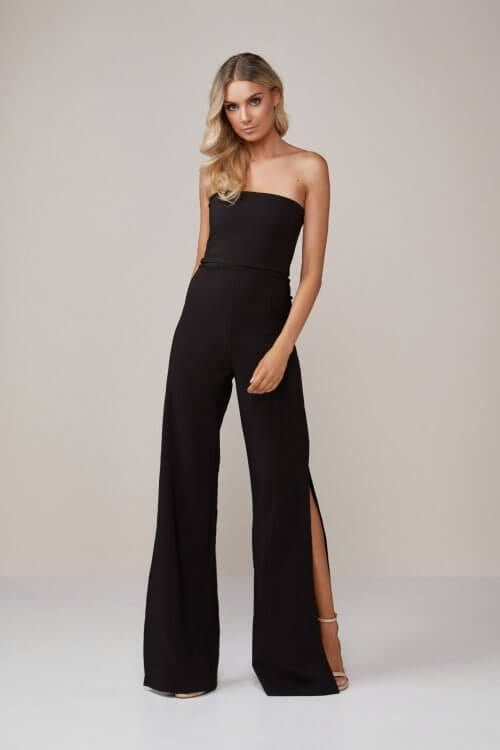 Nookie Glamour Jumpsuit Jumpsuit, Strapless Black