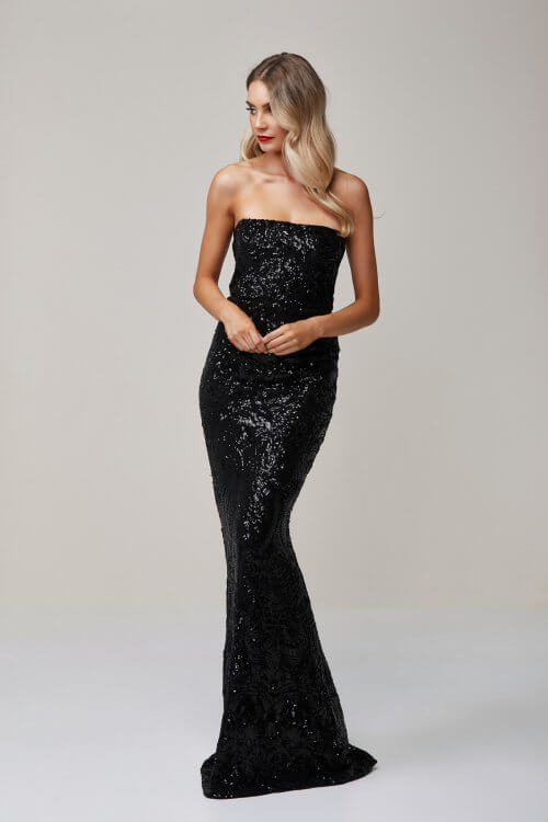 Nookie Shanina Strapless Gown Floor Length, Maxi, Strapless Black