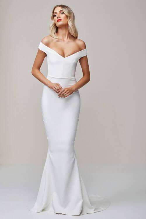 Nookie Allure Gown Floor Length, Maxi, Off-Shoulder Ivory