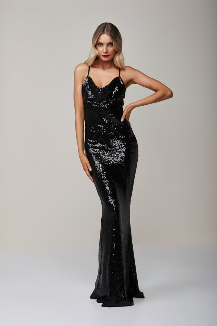 Nookie Seduce Sequin Gown Black Ons Boutique