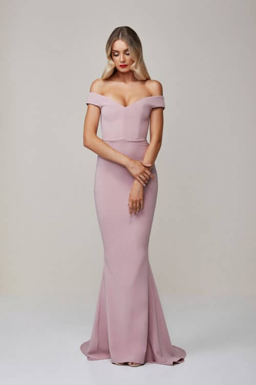 Nookie Allure Gown Floor Length, Off-Shoulder Pink