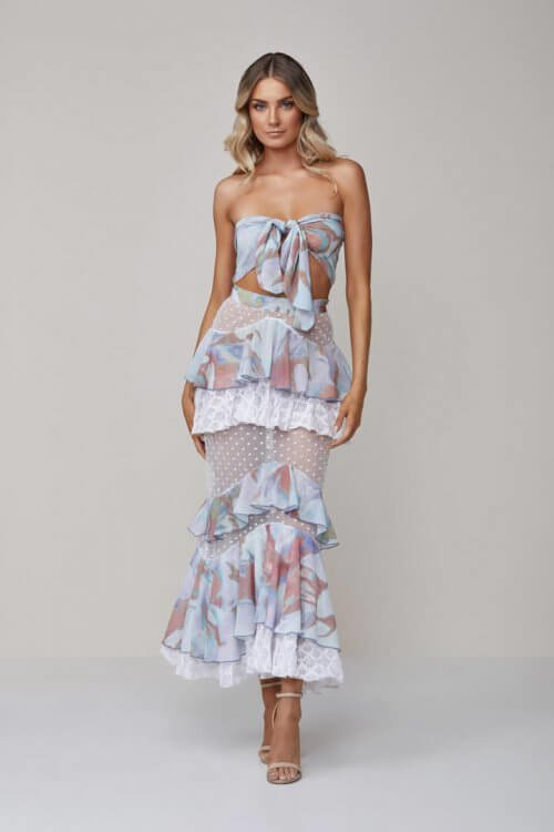 Ixiah Original Outlaw Set Floor Length, Maxi, Two-piece Set Print