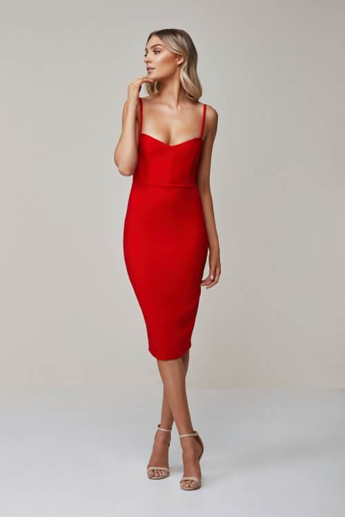 Nookie Allure Midi Knee Length, Midi Red