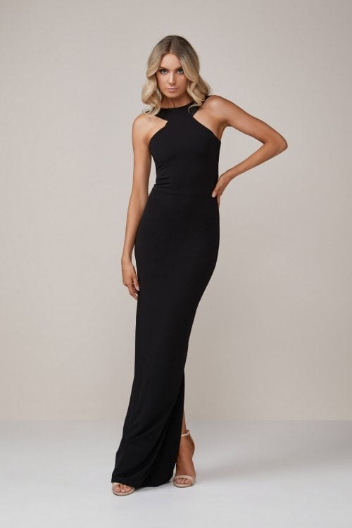 Nookie Cleo Gown Backless, Floor Length, Maxi Black