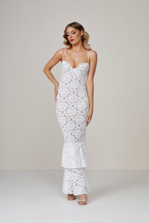 Nookie Liana Lace Gown Floor Length, Maxi Ivory