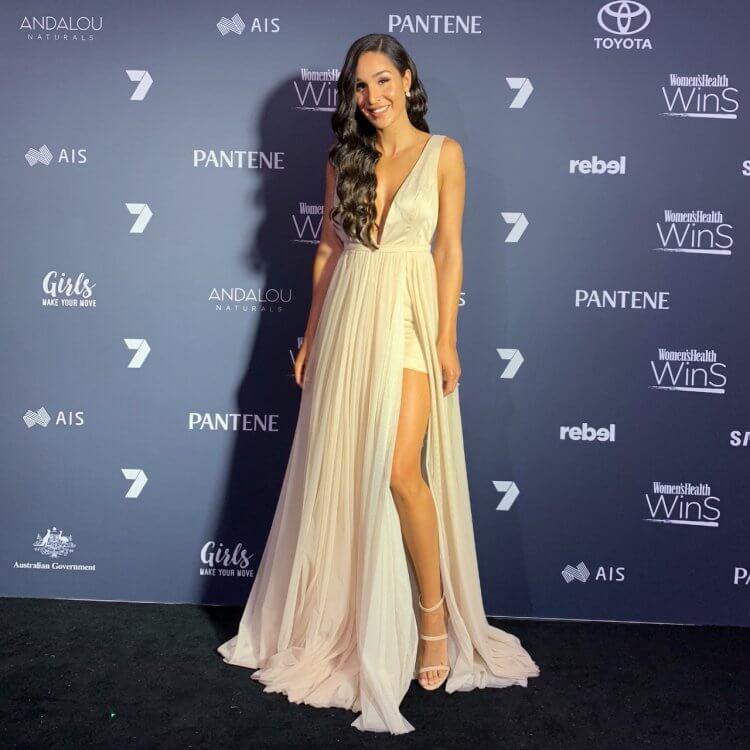 D'Lelle Kayla Gown Floor Length, Maxi, V-Neck Nude
