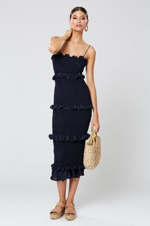 Winona Xia Dress Knee Length, Midi Navy