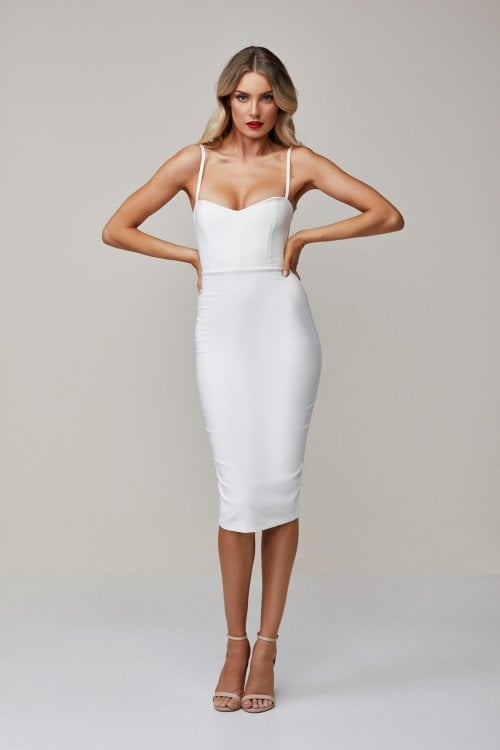 Nookie Allure Midi Knee Length, Midi Ivory