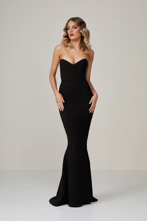 Nookie Magic Gown Floor Length, Strapless Black