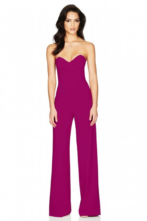 Nookie Bisous Jumpsuit Jumpsuit, Strapless Ruby