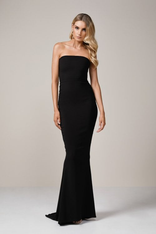 Nookie Angelina Gown Floor Length, Strapless Black
