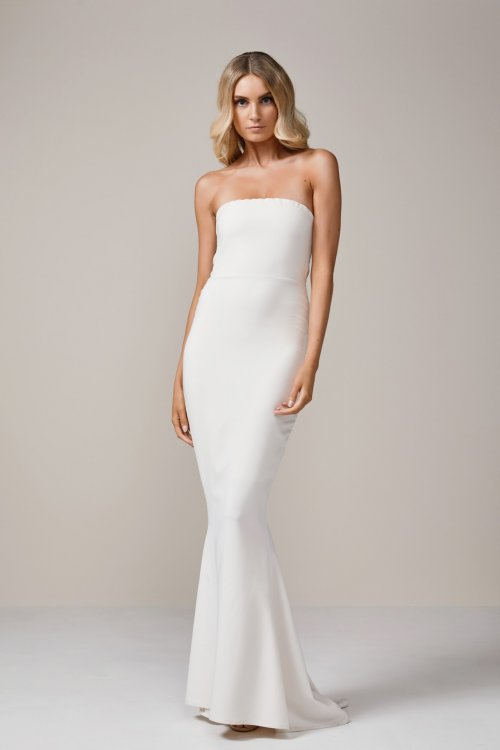 Nookie Angelina Gown Floor Length, Strapless Ivory