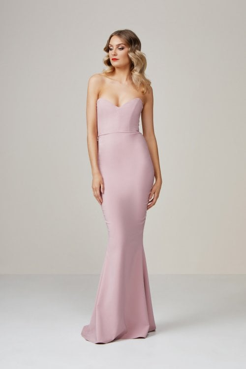 Nookie Magic Gown Floor Length, Maxi, Strapless Pink