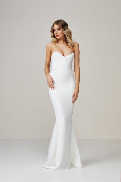 Nookie Magic Gown Floor Length, Maxi, Strapless Ivory