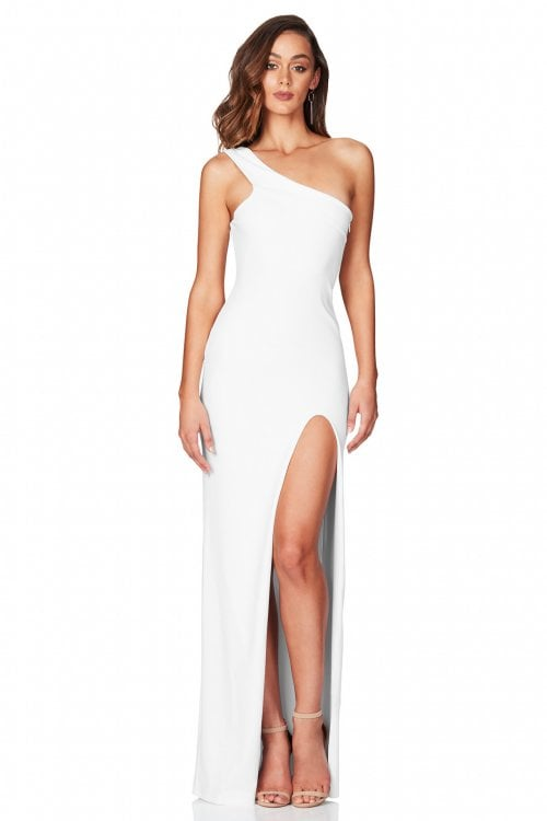 Nookie Mila Gown Floor Length, Maxi, Off-Shoulder White