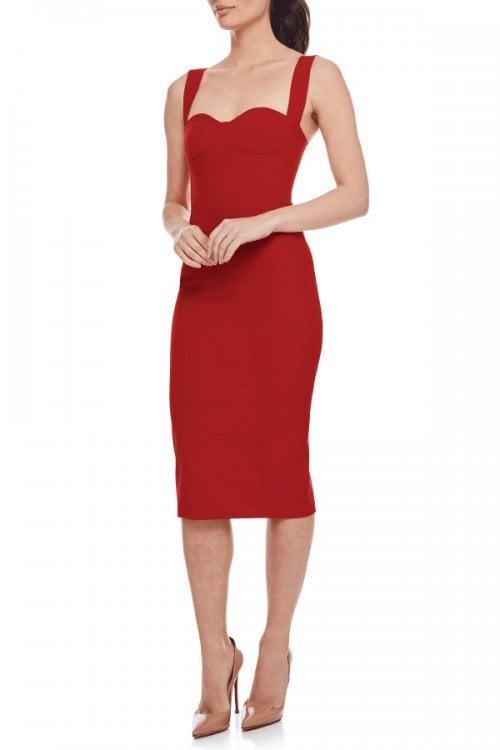 Bianca & Bridgett Bella Dress Knee Length, Midi Red