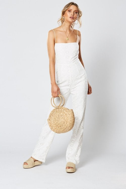 Winona Paddington Jumpsuit Backless, Jumpsuit White