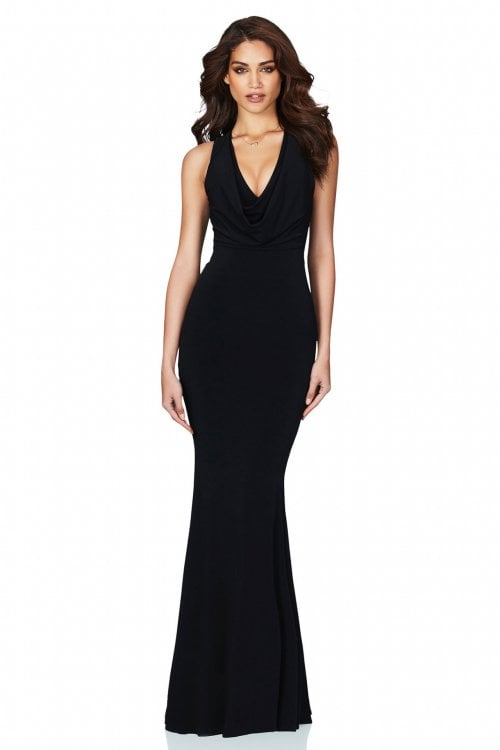 Nookie Entice Gown Floor Length, Maxi, V-Neck Black