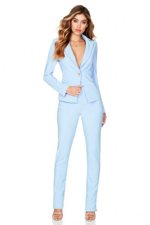 Nookie Muse Blazer & Pants Long-Sleeve, Two-piece Set Blue