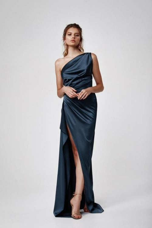 Lexi Samira Gown Backless, Floor Length, Maxi, Off-Shoulder Blue