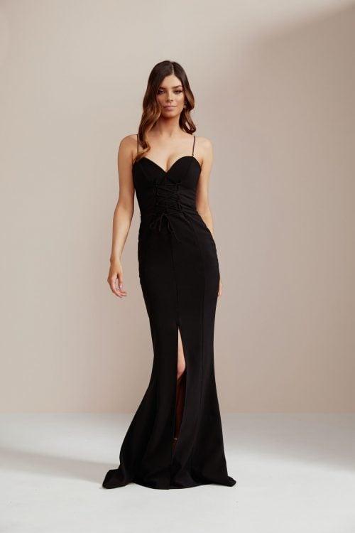Nookie London Gown Floor Length, Maxi, V-Neck Black