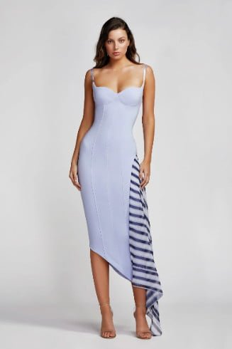 Lexi Ramona Dress Knee Length, Midi Blue