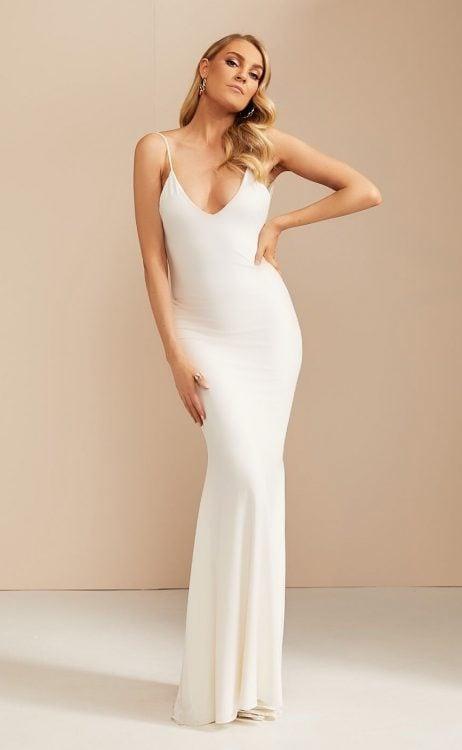 D'Lelle Georgia Gown Floor Length, Maxi Ivory
