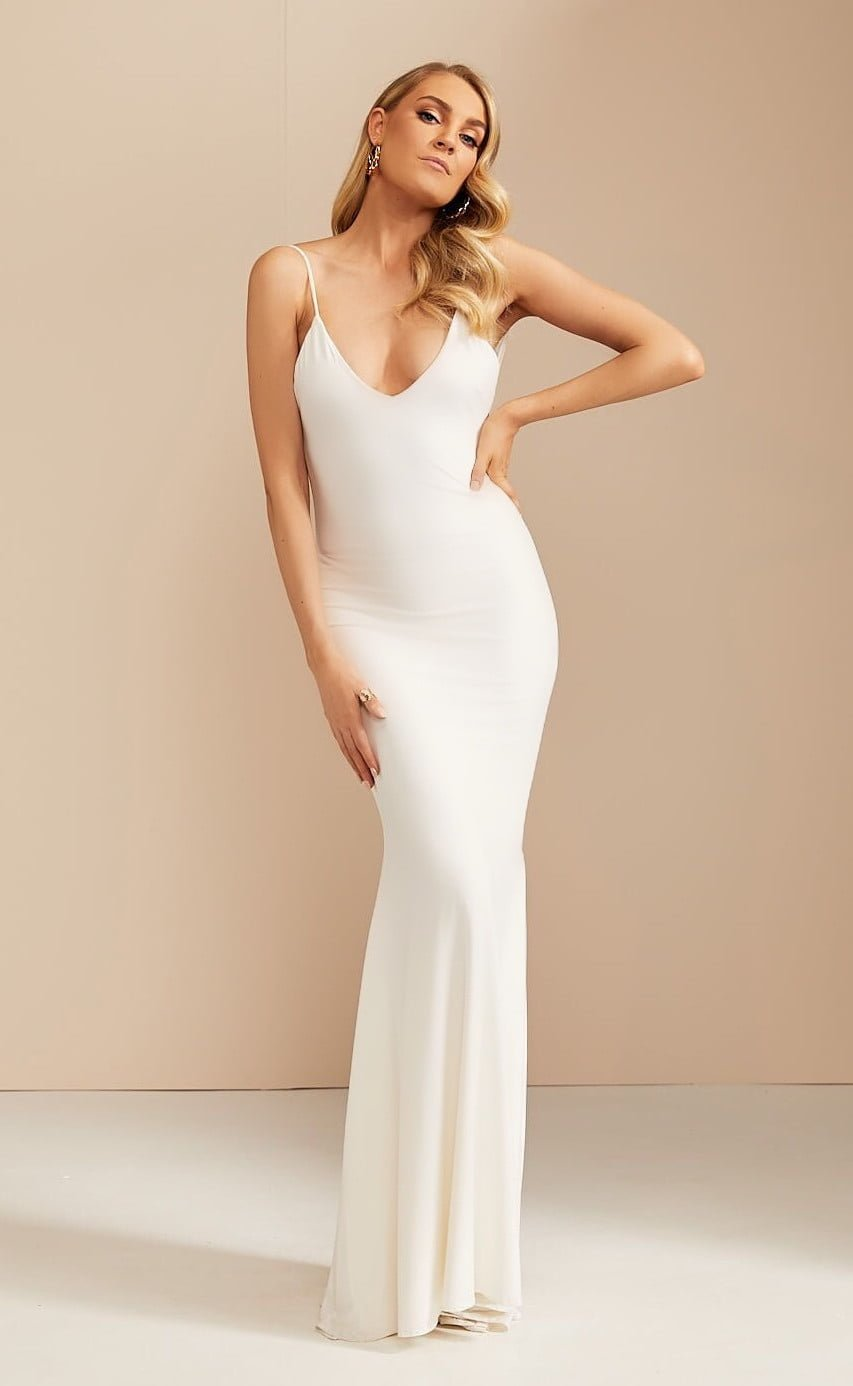D'Lelle Georgia Gown Floor Length, Maxi Ivory