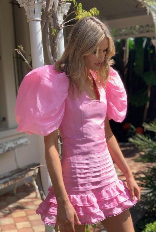 Mackenzie Mode Pandora Dress Mini Pink